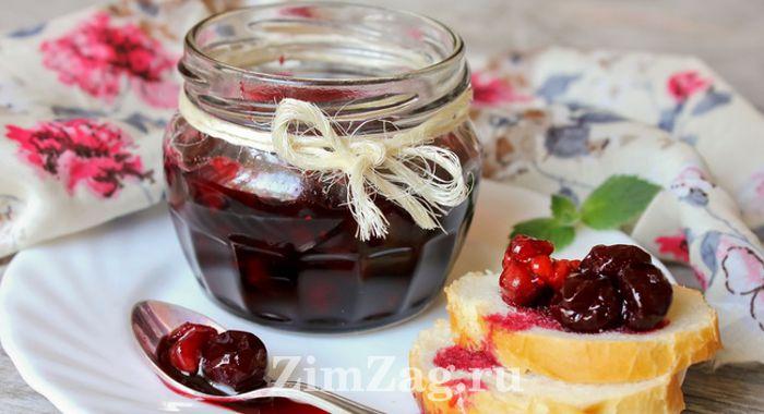 Варенье из вишни без косточек простой рецепт на зиму с расстойкой