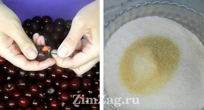 варенье из вишни на зиму без косточек с желатином