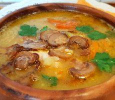 грибной суп из сушеных грибов рецепт с фото